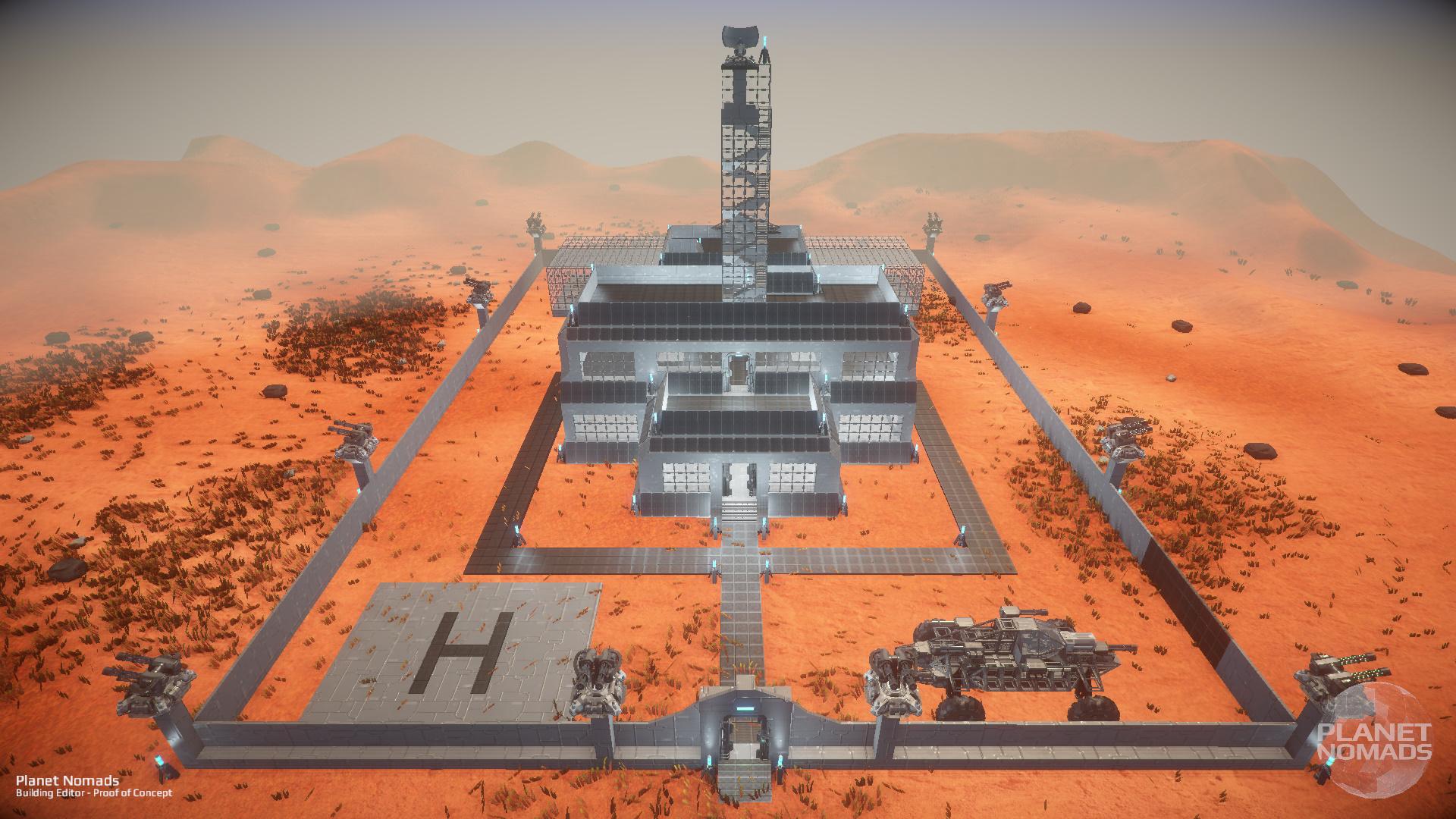 Planet Nomads – screenshoty základny